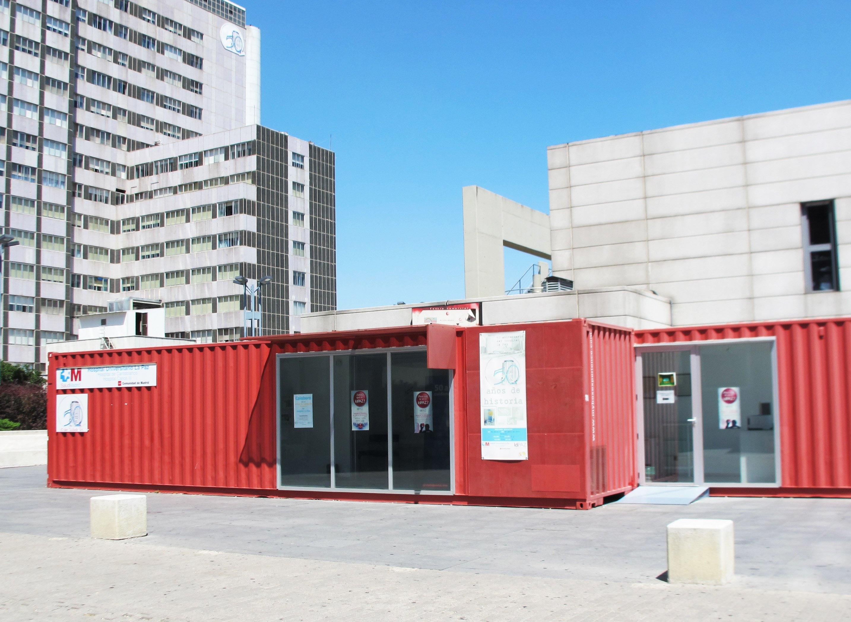 Office containers, La Paz Hospital (Madrid, Spain)