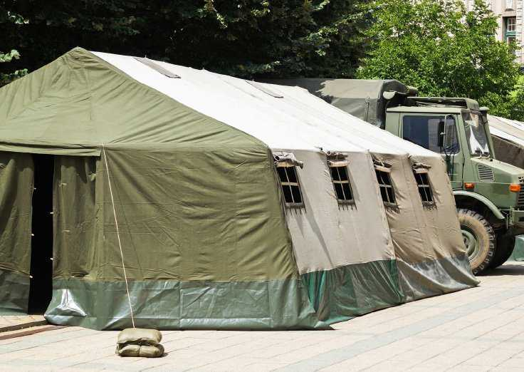 Rapid deployment shelters and tents