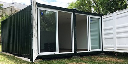 Shipping container transformation